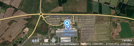 Aéroport de Billund- carte
