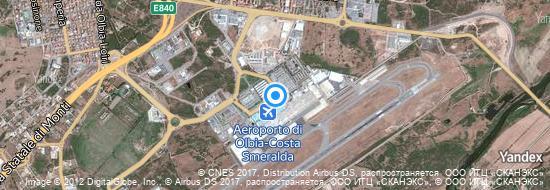 Aéroport d'Olbia-Costa Smeralda- carte
