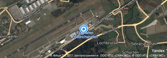 Flughafen Friedrichshafen - Karte