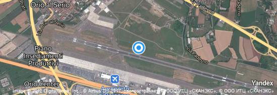 Aéroport de Bergame-Orio al Serio- carte
