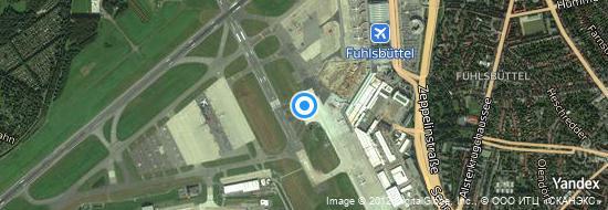 Aeropuerto Hamburgo - mapa