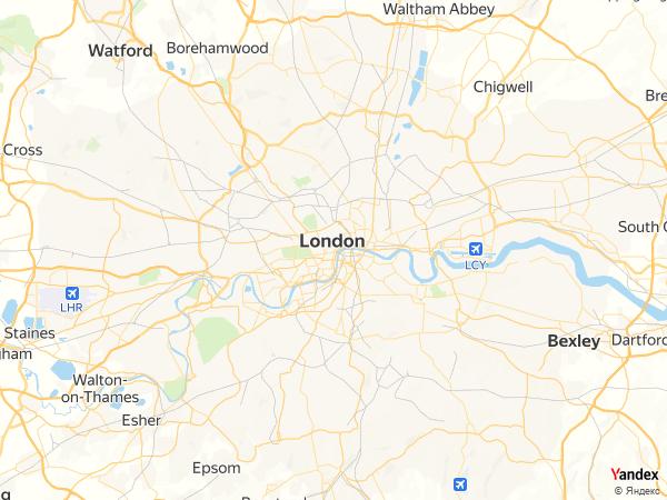 خريطة  لندن ، المملكة المتحدة