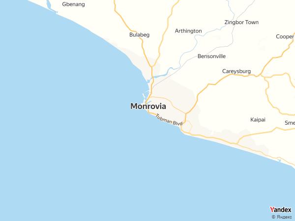 خريطة  مونروفيا ، جمهورية ليبيريا