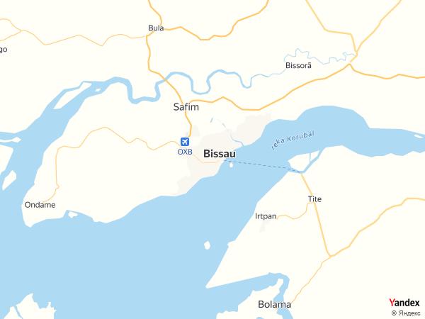 خريطة  بيساو ، جمهورية غينيا بيساو