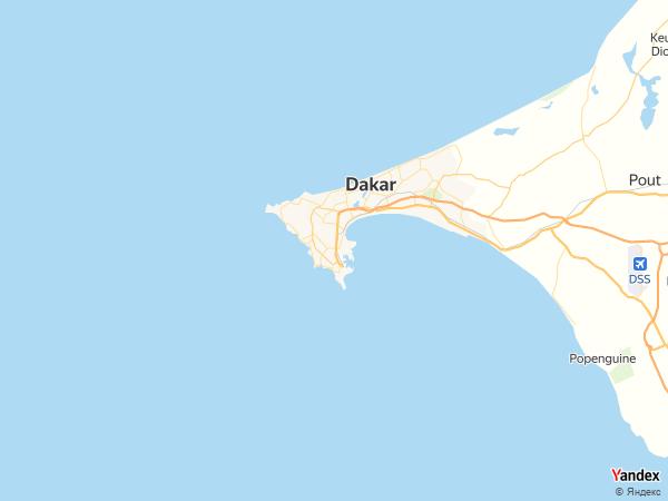 خريطة  داكار ، جمهورية السنغال