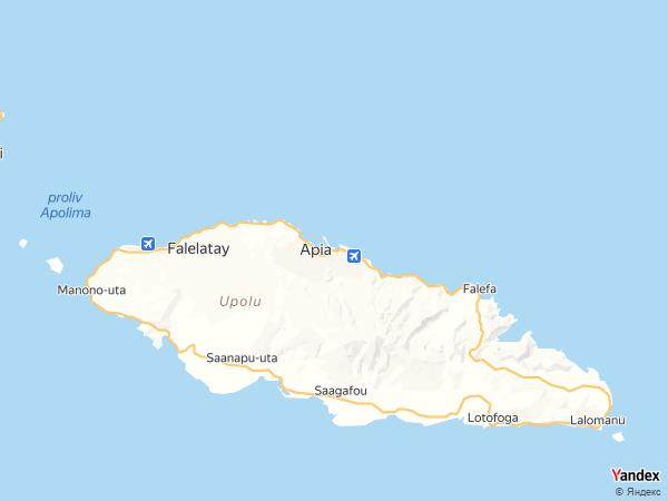 خريطة  أبيا ، دولة ساموا المستقلة