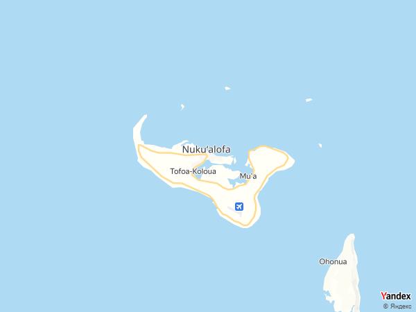 خريطة  نوكو ألوفا ، مملكة تونجا