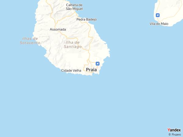 خريطة  برايا ، جمهورية الرأس الأخضر
