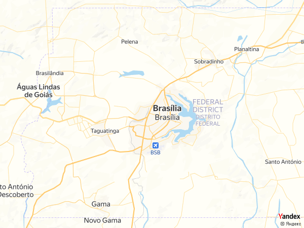 خريطة  برازيليا ، جمهورية الفدرالية البرازيلية