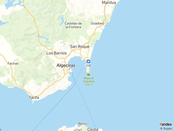 خريطة جبل طارق، جبل طارق