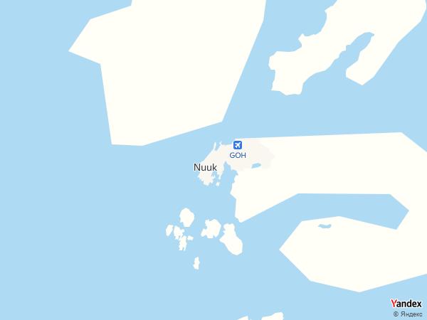 خريطة  نوك ، جرينلاند