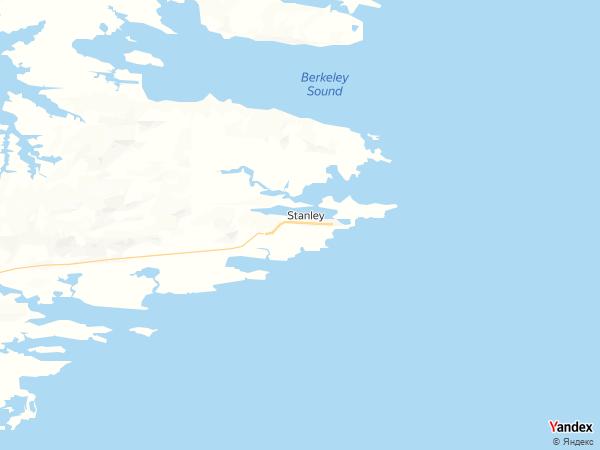 خريطة  ستانلي ، جزر فوكلاند