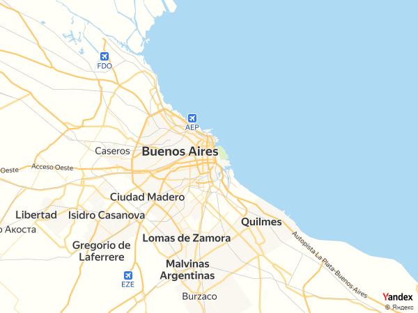 خريطة  بوينس آيرس ، جمهورية الأرجنتين