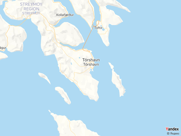 خريطة توشهافن، جزر فارو