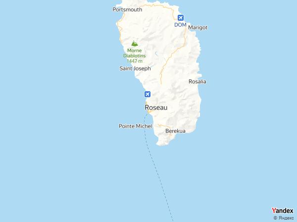 خريطة روسو، جزيرة دومينيكا