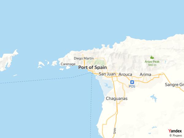 خريطة  بورت أوف سبين ، جمهورية ترينداد وتوباجو