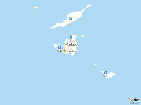 خريطة فيليبسبورغ، دولة سينت مارتن