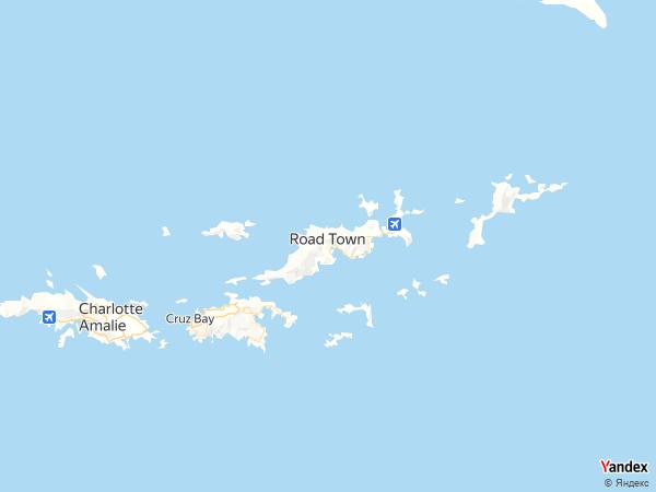 خريطة  رود تاون ، الجزر العذراء البريطانية