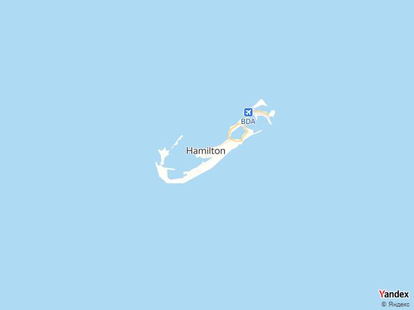 خريطة هاميلتون، جزر برمودا