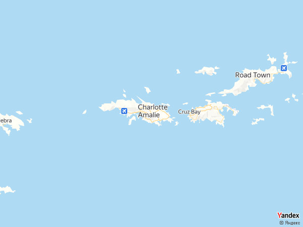 خريطة شارلوت أمالي، جزر العذراء الأمريكية