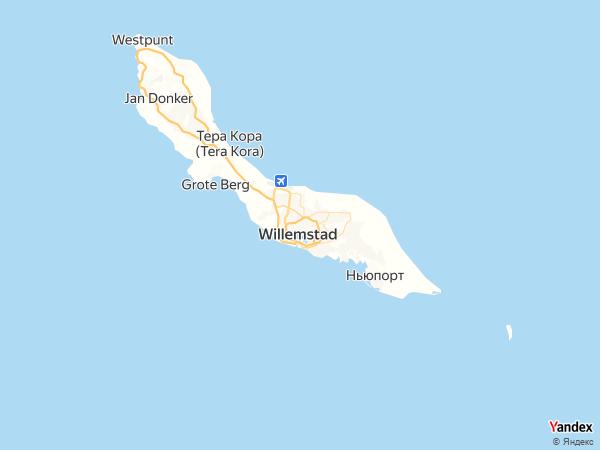 خريطة  ويلمستاد ، جزر الأنتيل الهولندية
