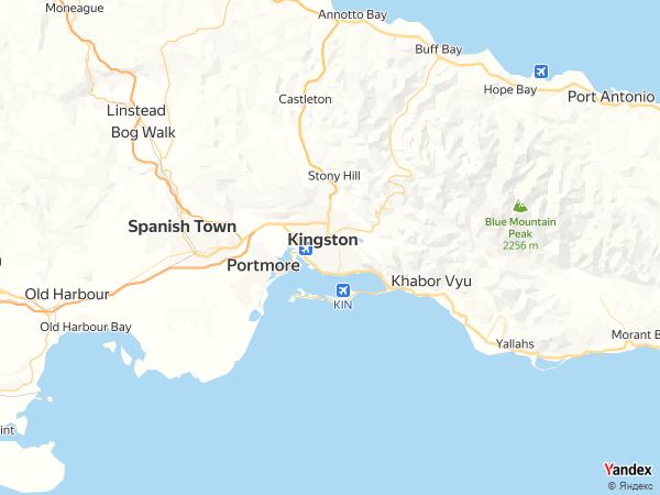 خريطة  كينغستون ، مملكة جامايكا