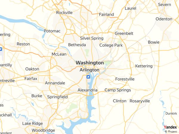 خريطة واشنطن العاصمة ، الولايات المتحدة الأمريكية