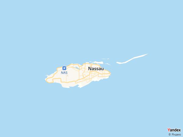 خريطة  ناساو ، كومنولث جزر البهاما