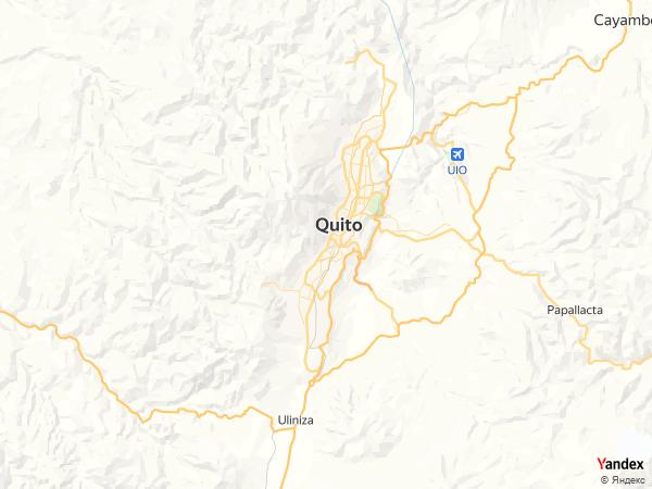 خريطة  كيتو ، جمهورية الإكوادور