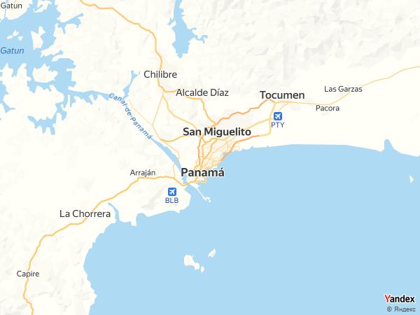 خريطة  مدينة بنما ، جمهورية بنما
