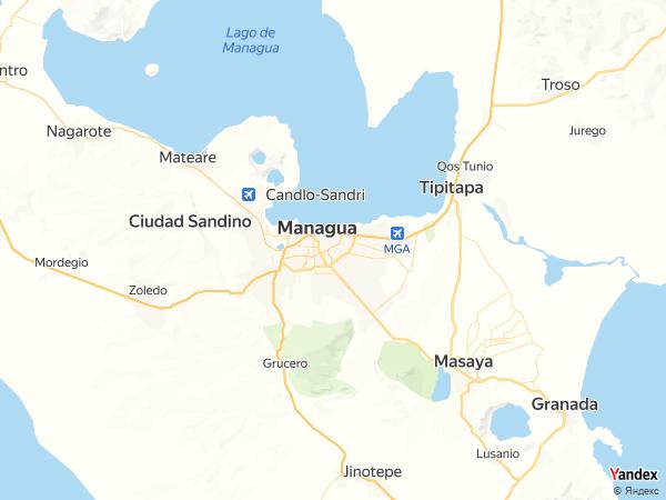 خريطة  ماناغوا ، جمهورية نيكاراجوا