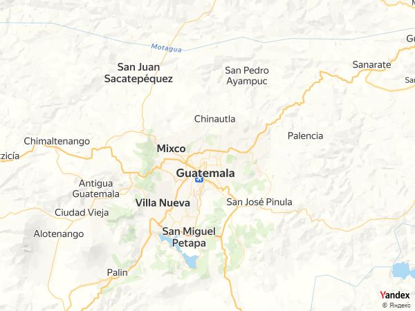 خريطة  غواتيمالا سيتي ، جمهورية غواتيمالا
