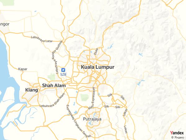 خريطة  كوالالمبور ، مملكة ماليزيا