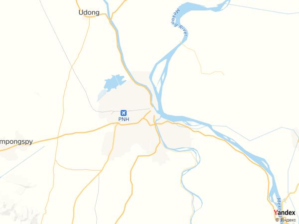 خريطة  بنوم بنه ، مملكة كمبوديا