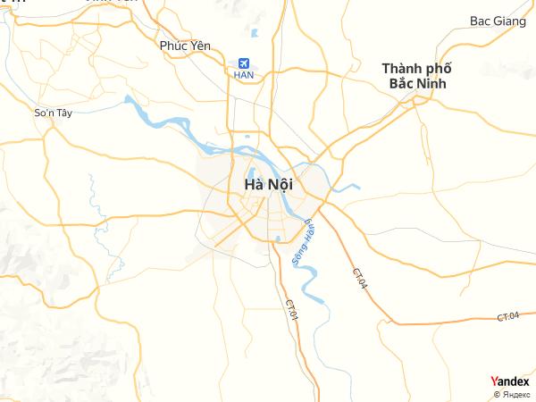 خريطة  هانوي ، جمهورية فيتنام الاشتراكية
