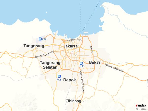 خريطة  جاكرتا ، الجمهورية الإندونيسية