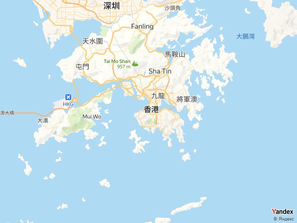 خريطة  هونغ كونغ ، جمهورية هونغ كونغ