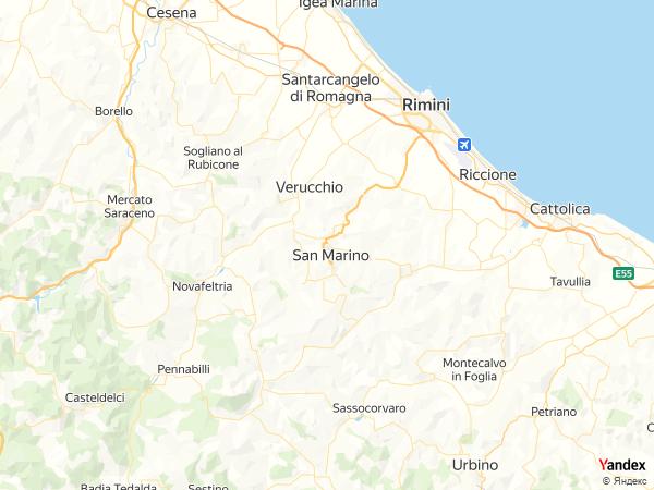 خريطة  سان مارينو ، جمهورية سان مارينو