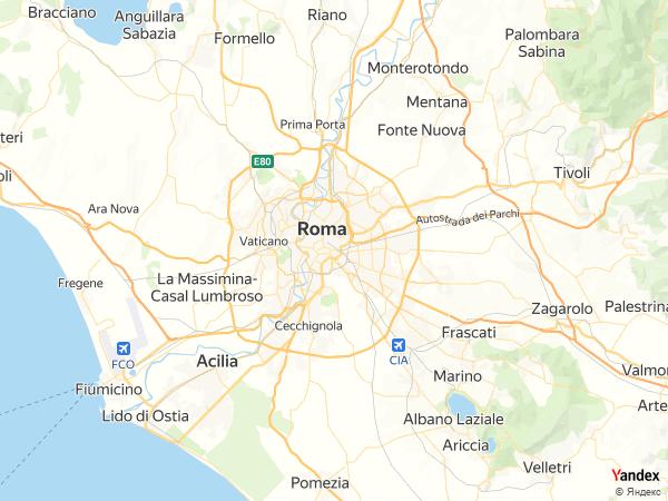 خريطة  روما ، الجمهورية الإيطالية