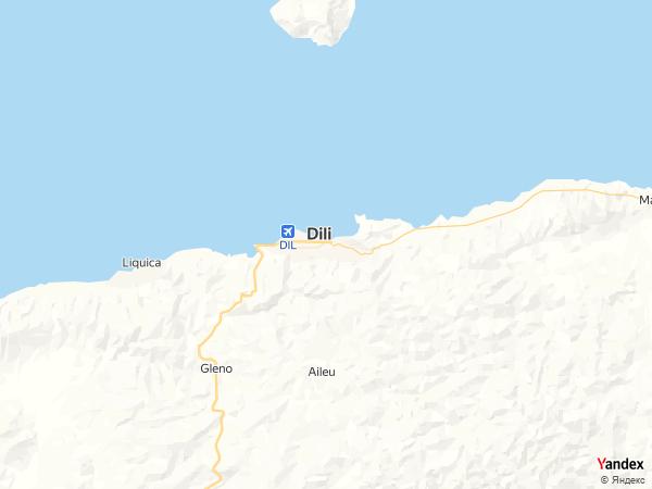 خريطة  ديلي ، جمهورية تيمور الشرقية