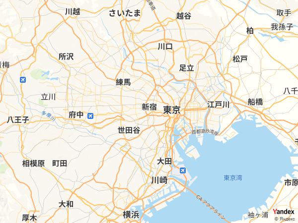 خريطة  طوكيو ، اليابان