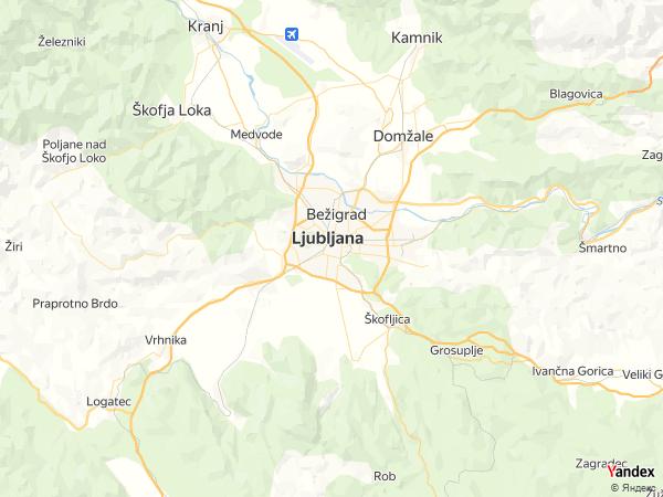 خريطة  ليوبليانا ، جمهورية سلوفينيا