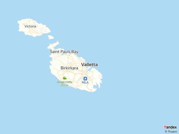 خريطة  فاليتا ، الجمهورية المالطية