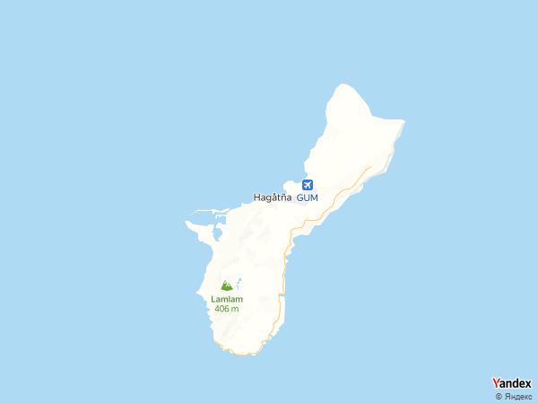 خريطة هاغاتنيا، جزيرة غوام الأمريكية