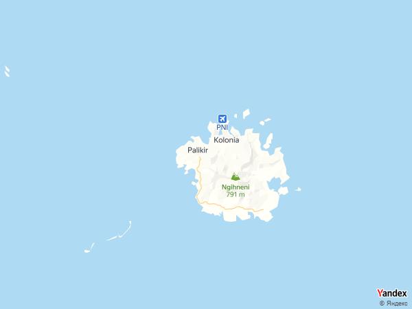 خريطة  باليكير ، ولايات ميكرونيسيا المتحدة