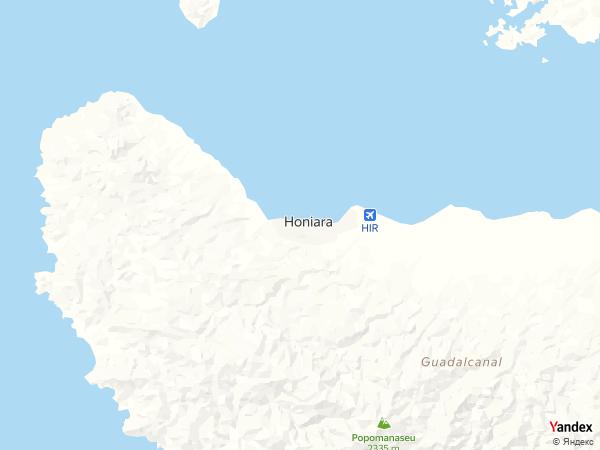خريطة  هونيارا ، جزر سليمان