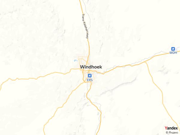 خريطة  ويندهوك ، جمهورية ناميبيا