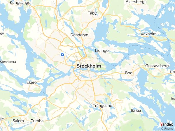 خريطة  ستوكهولم ، مملكة السويد