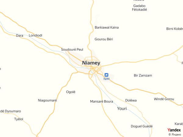 خريطة  نيامي ، جمهورية النيجر