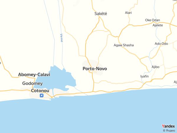 خريطة  بورتو نوفو ، جمهورية بنين